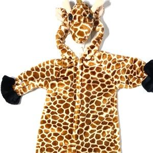 Vintage Giraffe Kids Zip Up Costume 1999